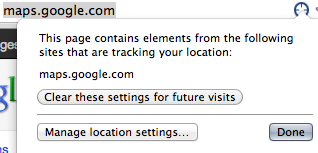 Chrome Location Icon